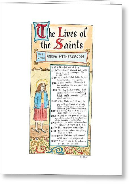 The Lives Of The Saints This Week:  Frieda Greeting Card