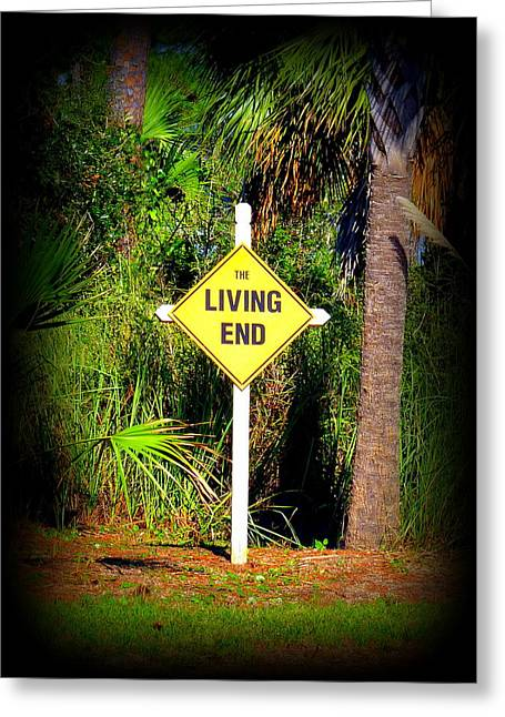 The Living End Greeting Card by Carla Parris