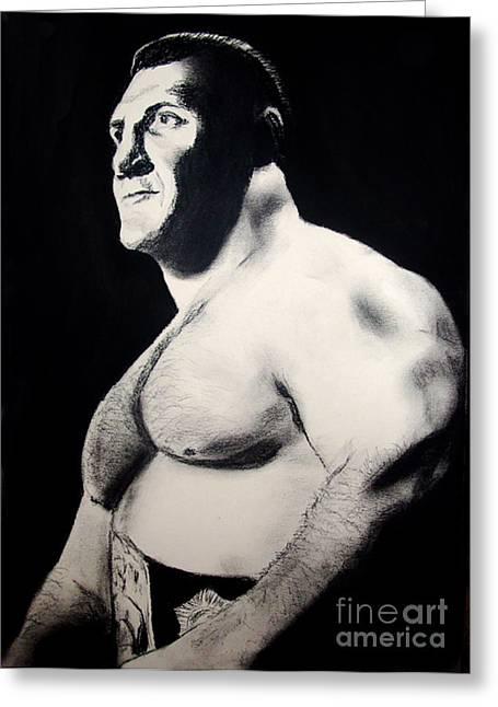 The Living Legend Of Wrestling Bruno Sammartino Greeting Card by Jim Fitzpatrick