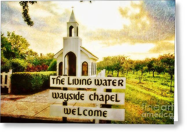 The Living Water Wayside Chapel Greeting Card by Scott Pellegrin
