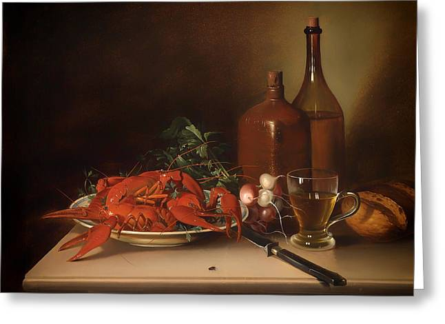 The Lobster Meal Greeting Card by Mountain Dreams