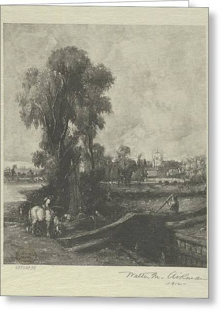 The Lock, After Constable Greeting Card by After John Constable