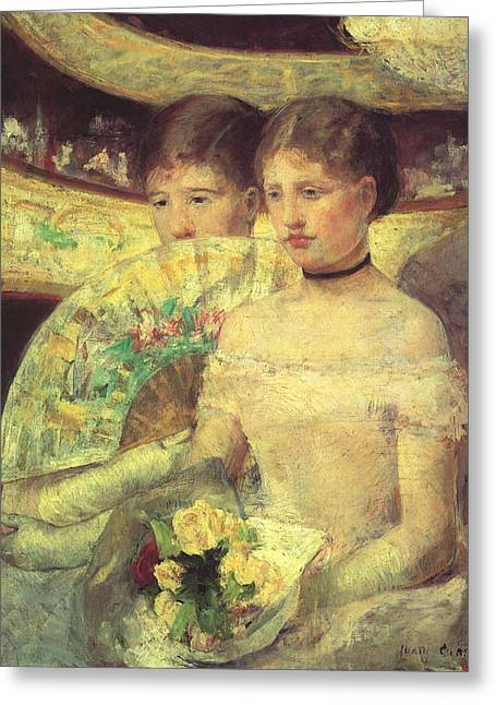 The Loge Greeting Card by Marry Cassatt