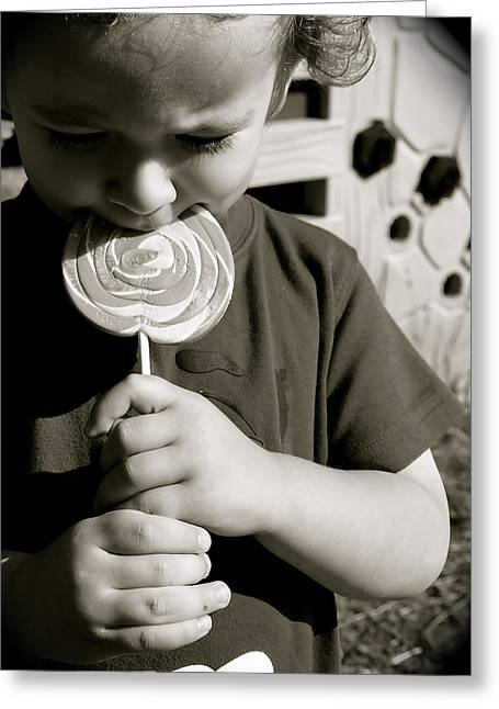 The Lollipop Greeting Card by Cherie Haines