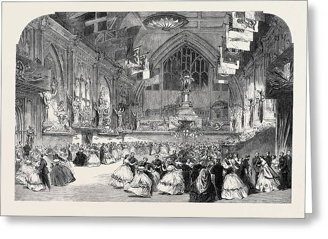 The London Rifle Brigade Ball At Guildhall Greeting Card by English School