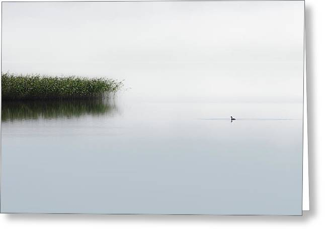 The Lone Fisher Greeting Card