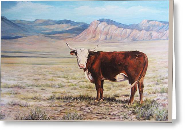The Lone Range Greeting Card by Donna Tucker
