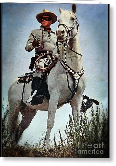 The Lone Ranger Greeting Card by Bob Hislop