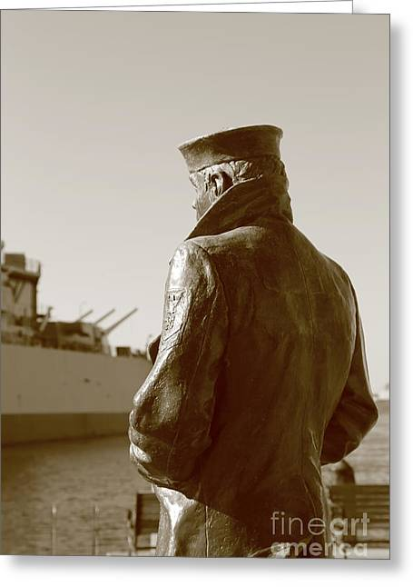 The Lone Sailor Sculptor  Greeting Card