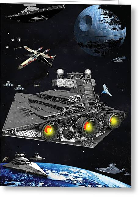 The Lone X Wing Greeting Card by Bryan Fleming