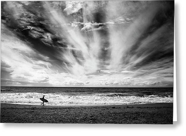 The Loneliness Of A Surfer Greeting Card
