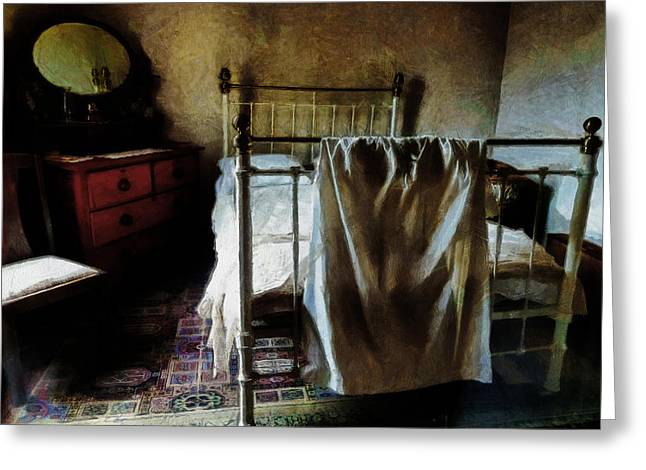 The Loneliness Of An Unmade Bed Greeting Card by Steve Taylor