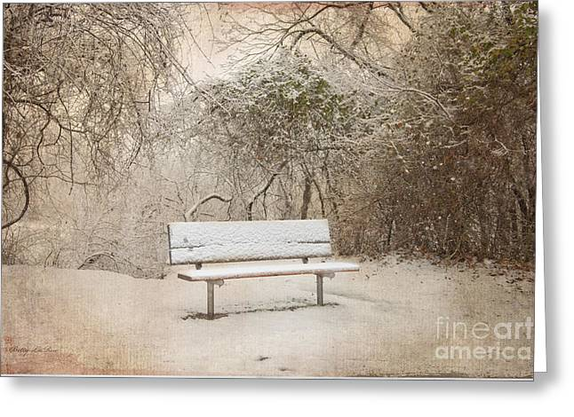 The Lonely Bench Greeting Card by Betty LaRue