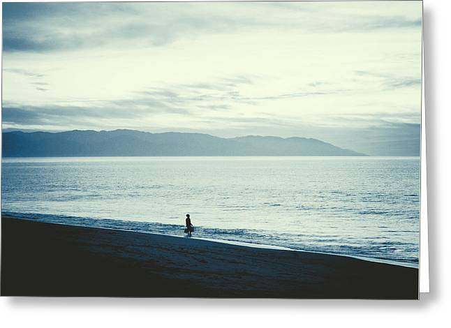 The Lonely Fisherman Greeting Card by Natasha Marco