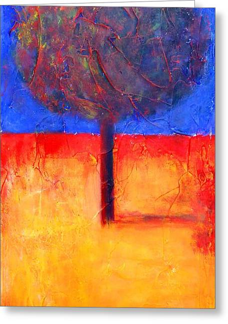 The Lonely Tree In Autumn Greeting Card
