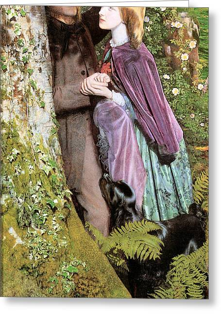 The Long Engagement Greeting Card by Arthur Hughes