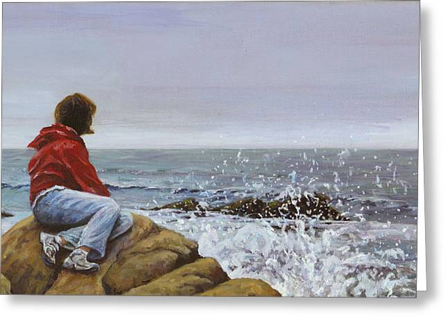 The Long Goodbye Greeting Card by Don Perino