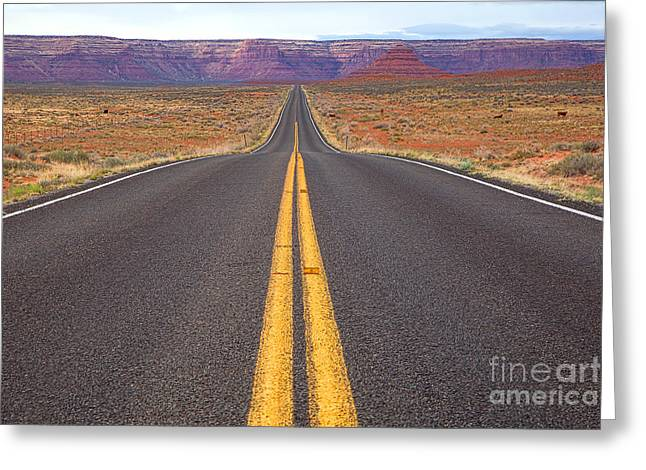 The Long Road Ahead Greeting Card