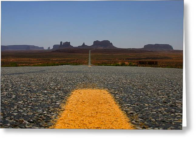 The Long Road  Greeting Card by Angie Wingerd