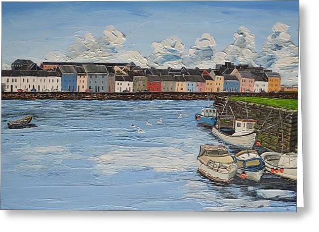 The Long Walk Boats Galway Ireland Greeting Card