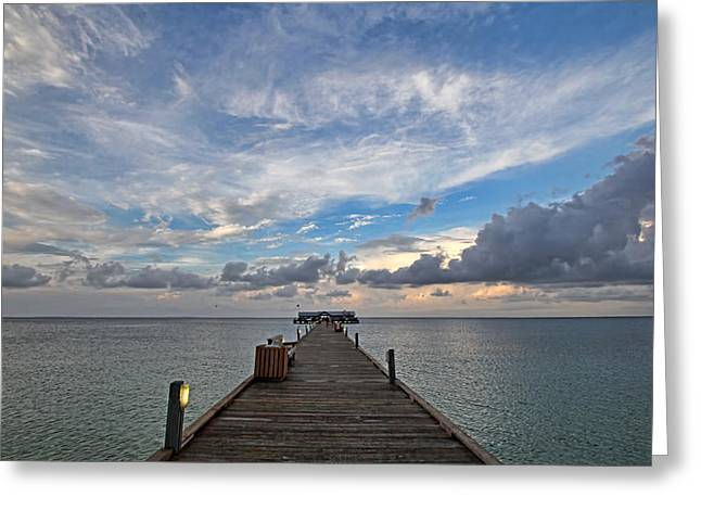 The Long Walk Greeting Card by HH Photography of Florida