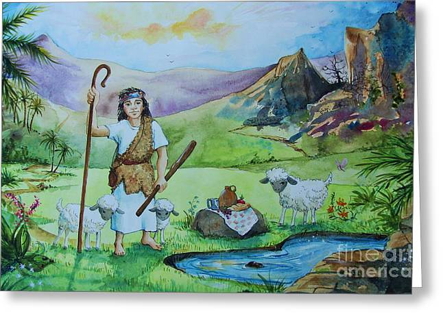 The Lord Is My Shepherd Greeting Card by Sarah Luginbill