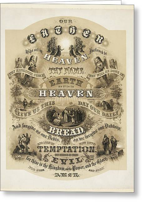 The Lords Prayer Greeting Card by Bill Cannon