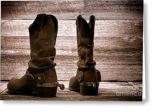 The Lost Boots Greeting Card by Olivier Le Queinec