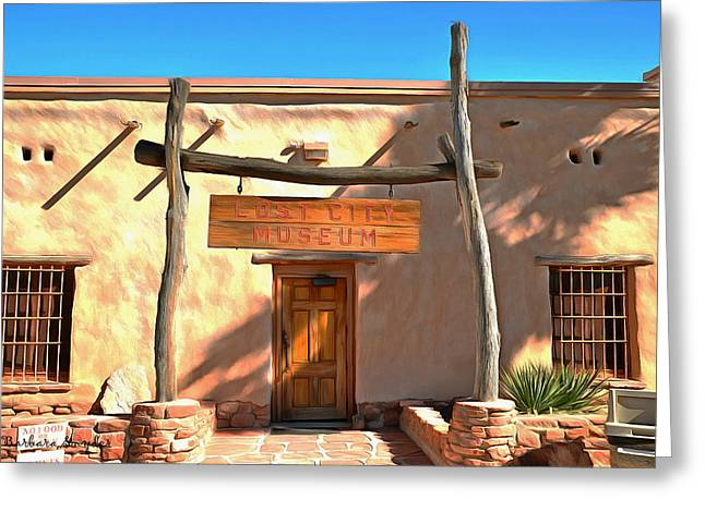 The Lost City Museum Greeting Card by Barbara Snyder