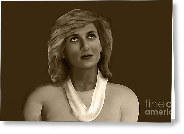 The Lost Princess Greeting Card by Syed Ghazanfar Ali Shah Bukhari