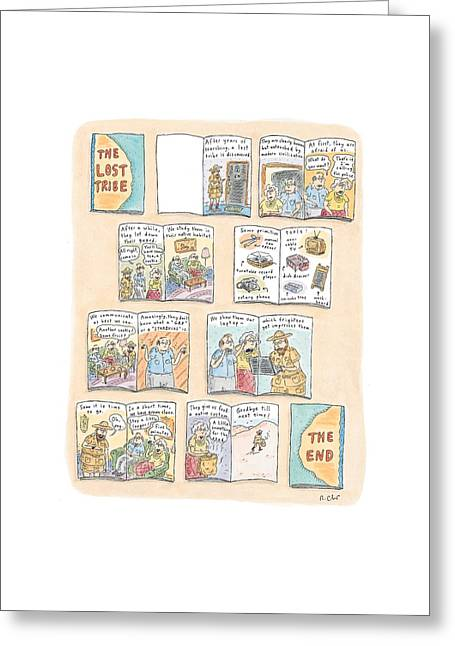 'the Lost Tribe' Greeting Card by Roz Chast