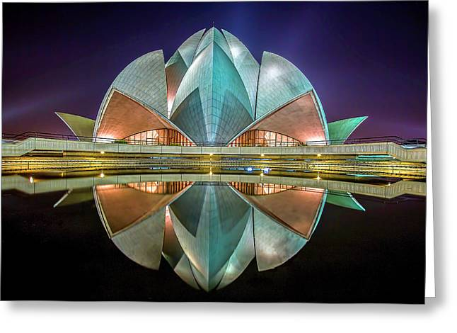 The Lotus Temple Greeting Card
