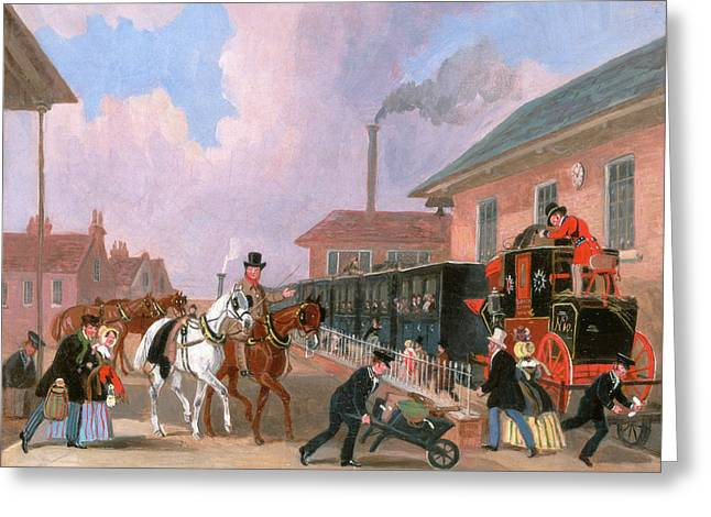 The Louth-london Royal Mail Travelling By Train Greeting Card