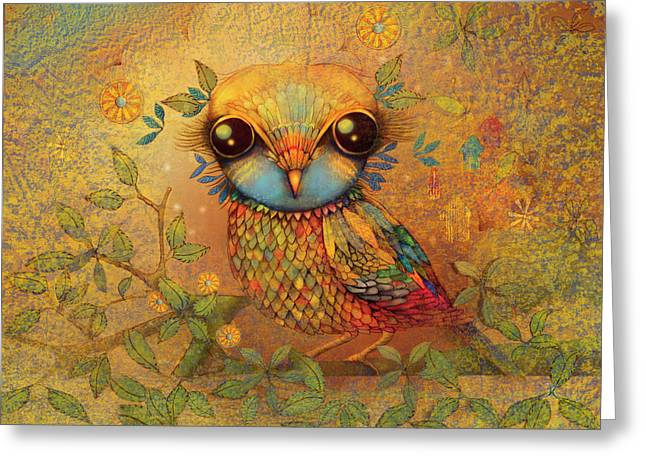 The Love Bird Greeting Card by Karin Taylor