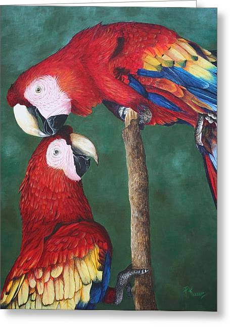 The Love Birds Greeting Card by Pam Kaur