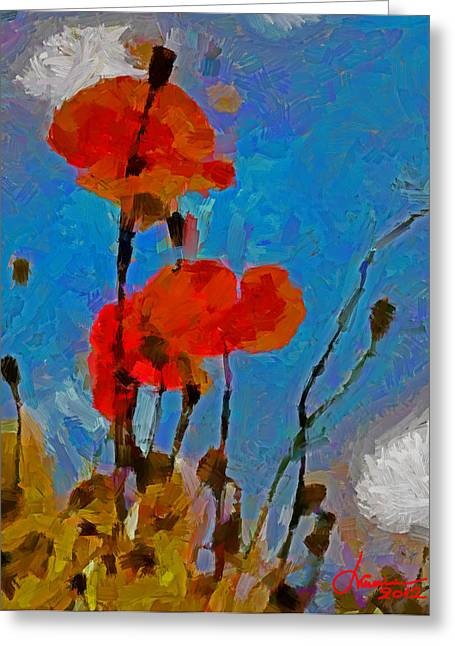 The Lovely Poppies Tnm Greeting Card by Vincent DiNovici