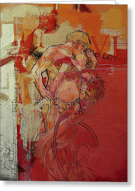 The Lovers  Greeting Card by Corporate Art Task Force