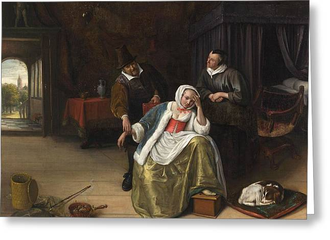 The Lovesick Maiden Greeting Card by Jan Steen