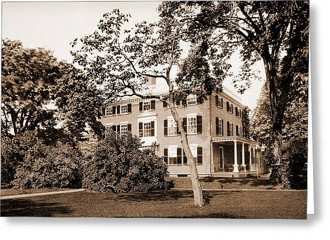 The Lowell House, Cambridge, Lowell, James Russell Greeting Card