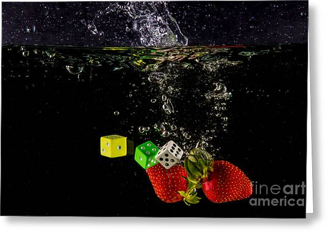 The Lucky 7 Splash Greeting Card by Rene Triay Photography