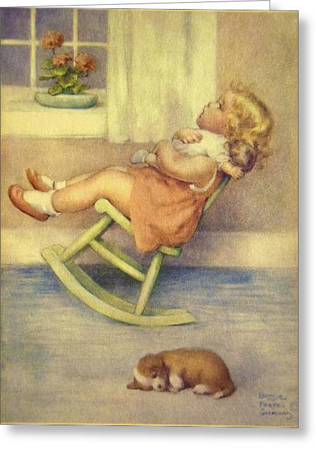 The Lullaby Greeting Card by Bessie Pease Gutmann
