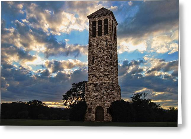 The Luray Singing Tower Greeting Card by Lara Ellis
