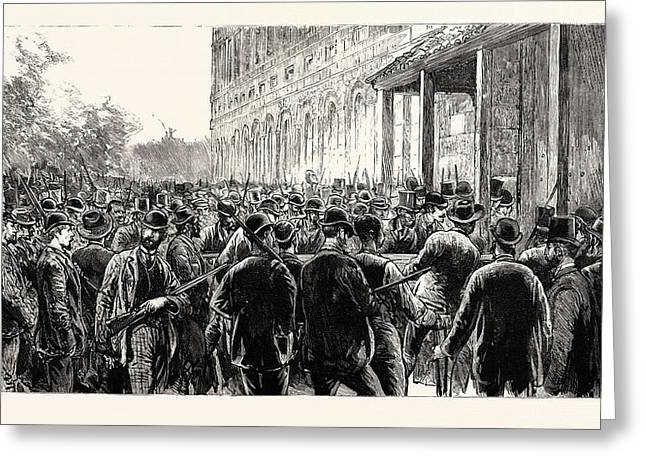 The Lynching Of Italians At New Orleans The Lynchers Greeting Card