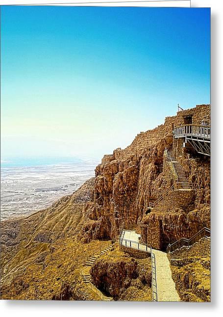 The Machabees And Their Masada Greeting Card by Sandra Pena de Ortiz
