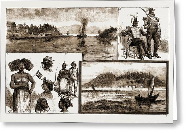 The Madagascar Difficulty, Sketches At Majunga Bay 1. Nossi Greeting Card by Litz Collection