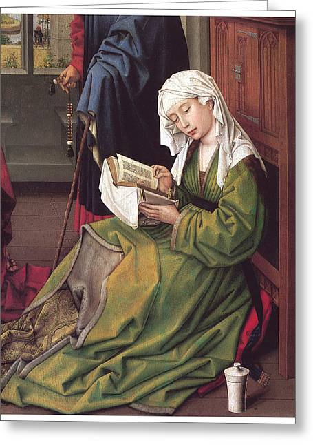 The Magdalen Reading Greeting Card
