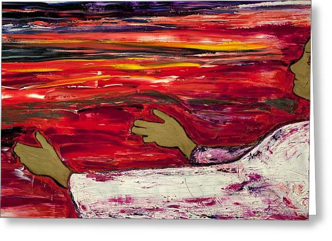 The Magdalene Reaching Greeting Card