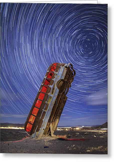 The Magic Bus Greeting Card by Rick Berk
