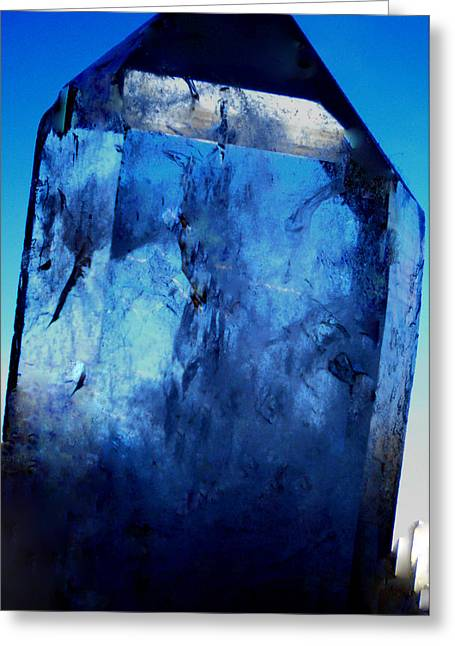 The Magic Crystal Greeting Card by Colette V Hera  Guggenheim