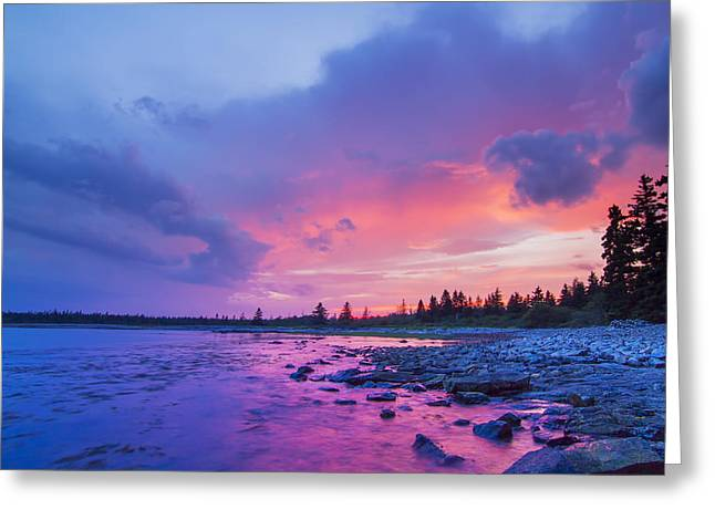 The Magic Hour In Acadia National Park Greeting Card